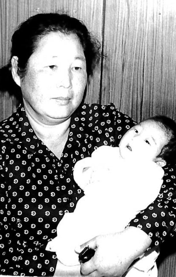 A photo of me and my foster mother in Korea, Seoul, 1977l