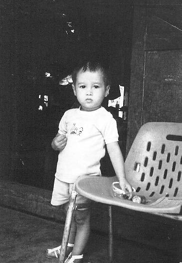 Photo sent to Maaswinkel from the adoption agency when they switched to an open adoption policy. It accompanied a letter his birth mother in Vietnam wrote to him shortly after she gave him up for adoption.